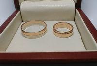 Кольца обручальные красное и белое золото