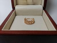 Кольцо форма корона