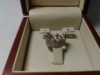 Красивое кольцо корона с камнями