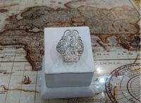 Кольцо с маркизами  в виде цветка