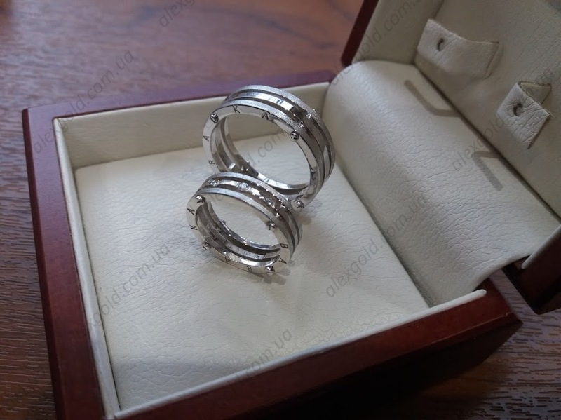 Широкие обручальные кольца Барака Baraka красное белое золото