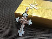 Крест золотой с эмалью
