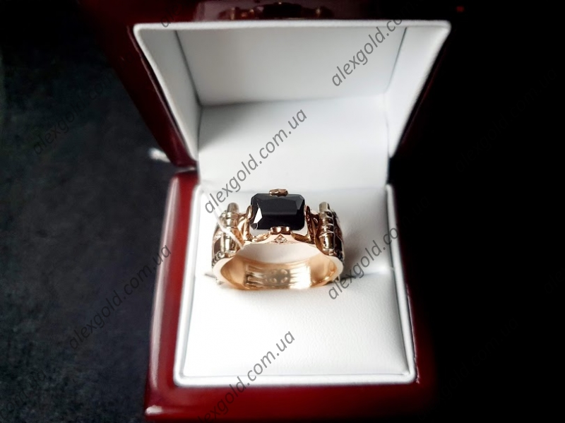 Перстень мужской с ониксом Черный принц 13 г