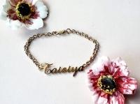 Золотой браслет с именем Taisya Таисия