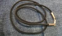 Шелковый шнурок с золотыми вставками диаметр 2,5 мм