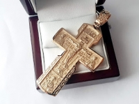 Золотой крест со святыми на 30 г