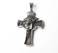 Крест с ликом Иисуса Христа и молитвой с обратной стороны