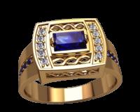 Мужская печатка кольцо