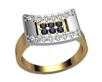 Стильное кольцо женское