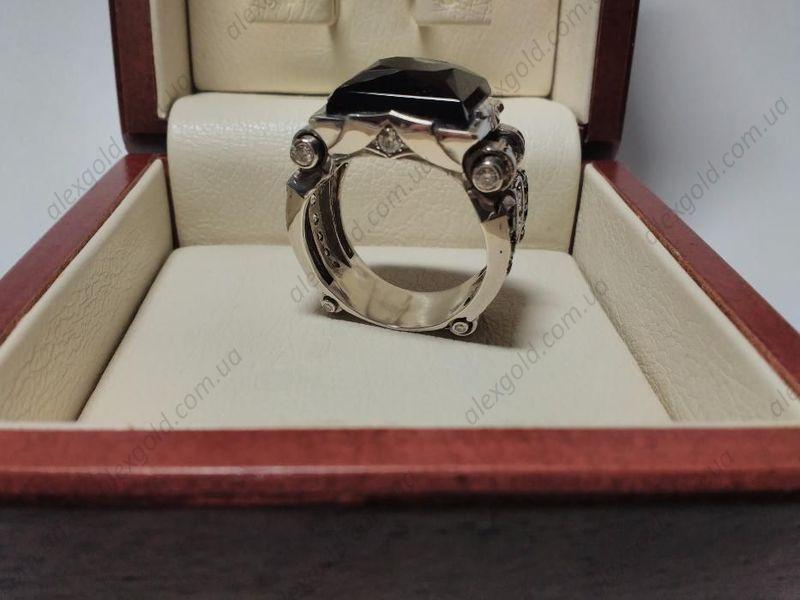 Кольцо перстень Черный принц серебро