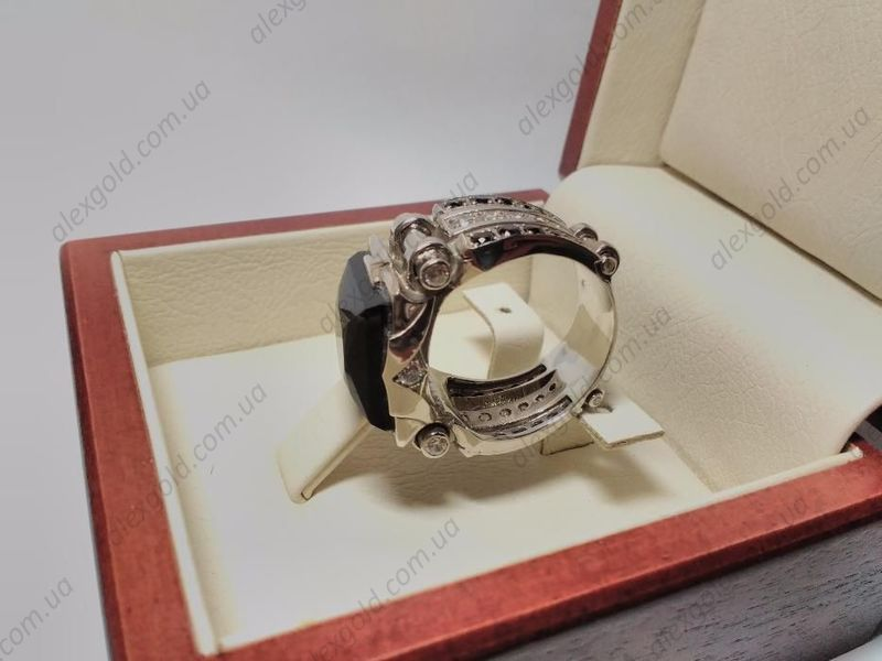 Кольцо Черный принц серебро