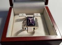 Печатка перстень с камнем под аметист