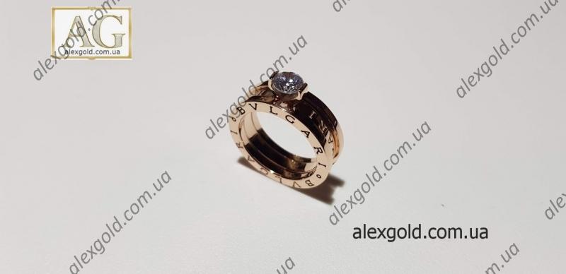 Женское кольцо Bulgari двойное