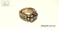 Мужской перстень Черный принц золото 27 г