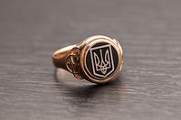 Печатка герб Украины круглая с эмалью