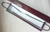 Кожаный шнурок с золотыми вставками замок диаметр 4 мм