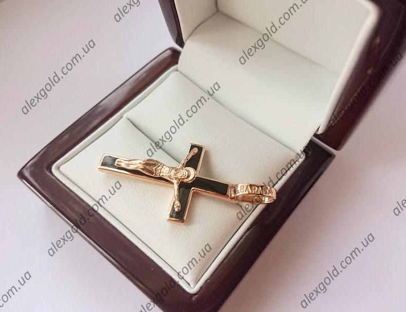 Крест черный с эмалью  Baraka
