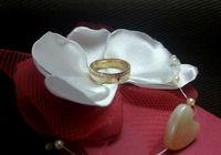 Гладкое обручальное кольцо с камнями