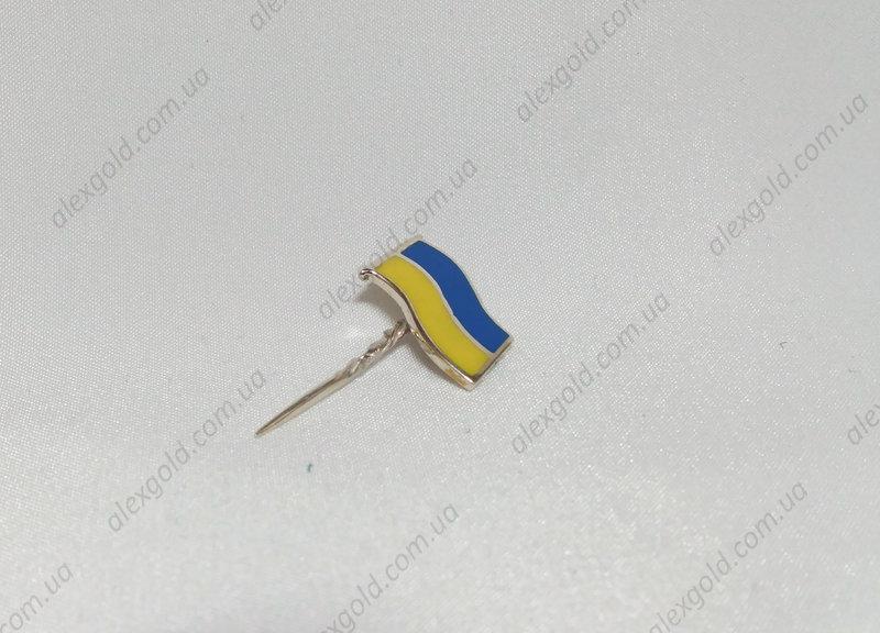 Значок на пиджак в виде флага Украины