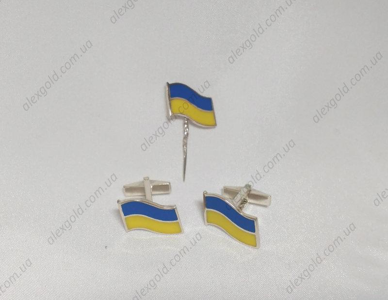 Запонки флаг Украины