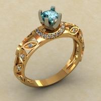 Кольцо для предложения с камнями
