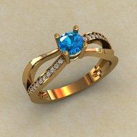 Кольцо под один камень
