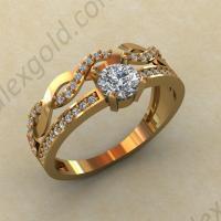 Двойное золотое кольцо