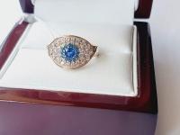 Женское кольцо в виде глаза