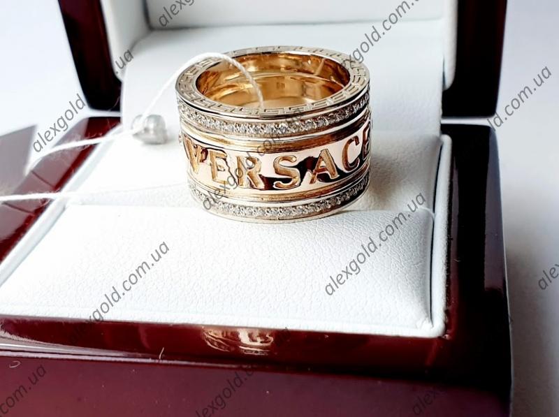 Женское золотое кольцо VERSACE комбинированное золото