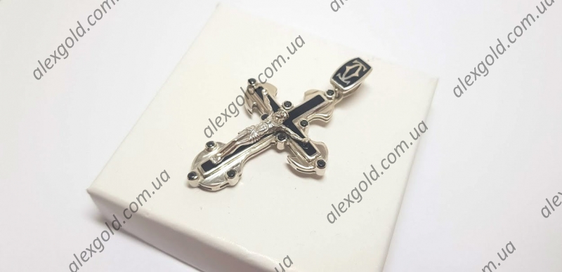 Крест Картье с эмалью