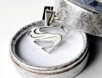 Кулон Superman серебро