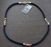 Шелковый шнурок с золотыми вставками бренда Baraka диаметр 5 мм