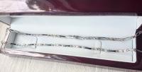 Цепочка шанель с эмалью ручной работы