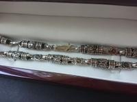 Цепочка с архангелами серебро