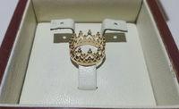 Кольцо корона с узором