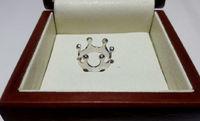 Кольцо в виде короны без камней