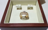 Женское золотое кольцо три в одном