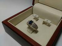 Кольцо с овальным камнем