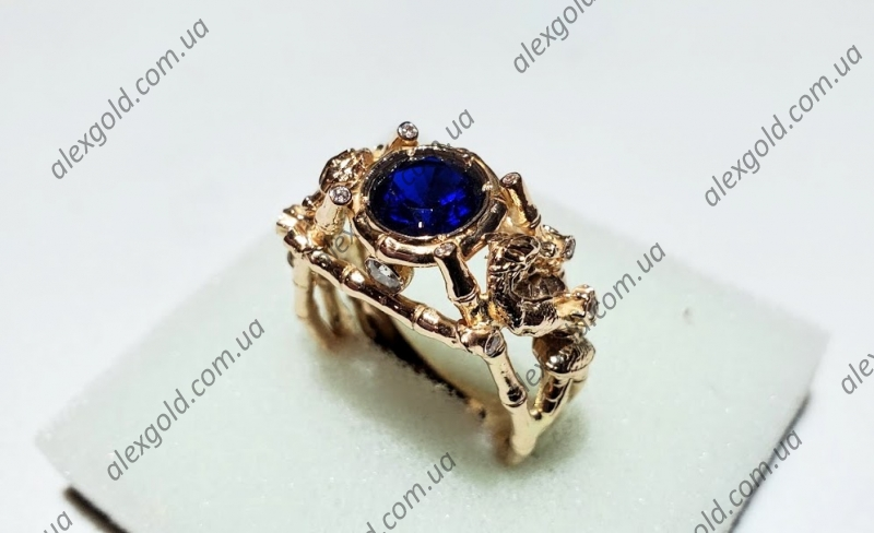 Мужское кольцо с драконами