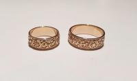 Широкие обручальные кольца золото